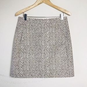 ANN TAYLOR Animal print circle mini skirt sz 4